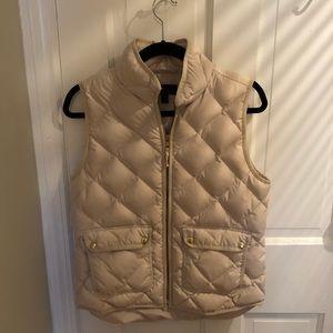 Women's J Crew Cream Vest Size Small